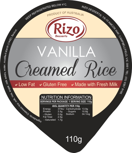 Vanilla Rice Dessert