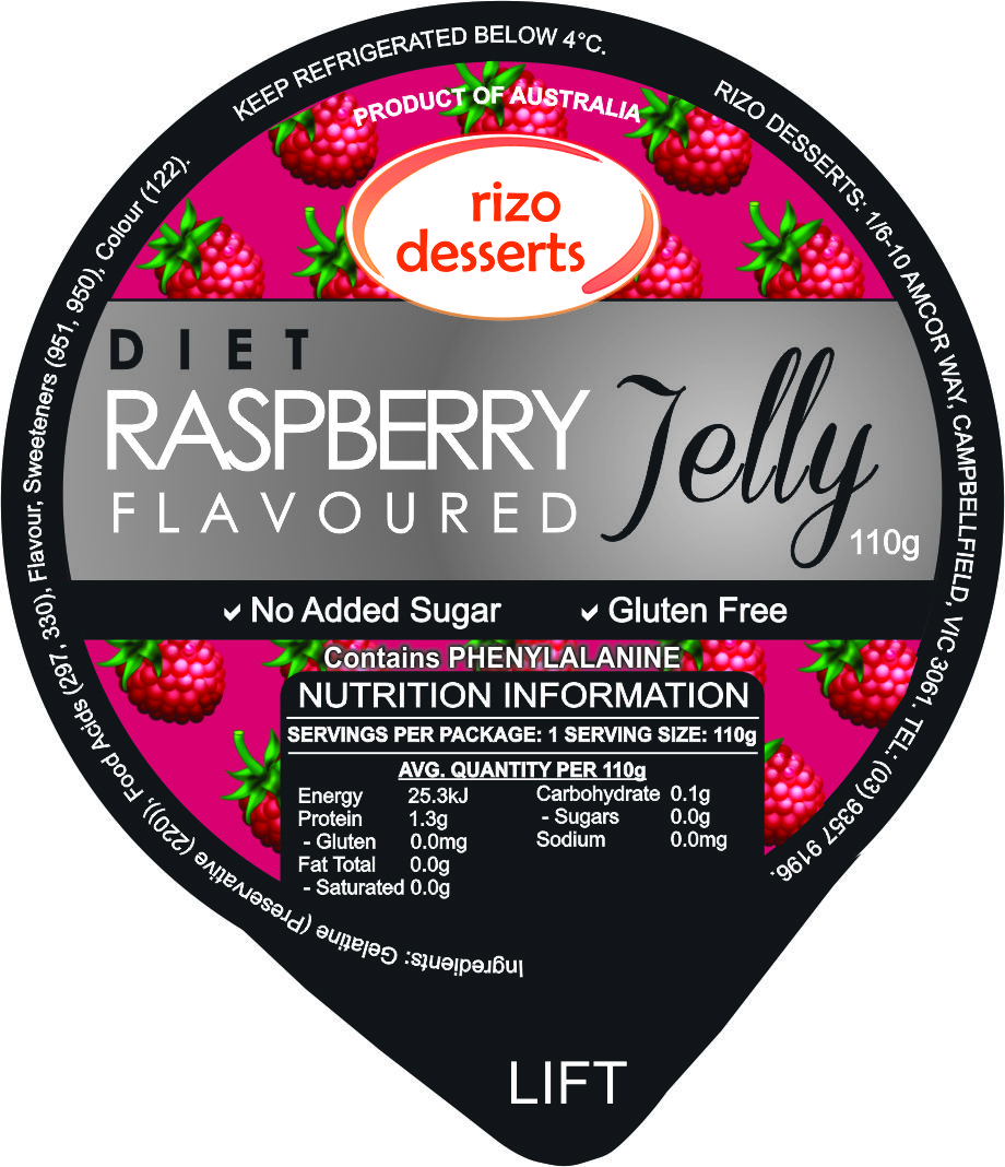 Low Joule Raspberry Jelly