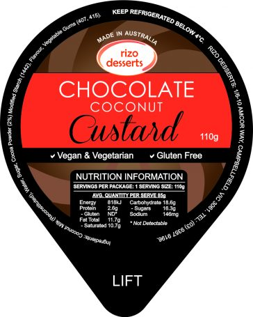 Chocolate Coconut Custard 110gm